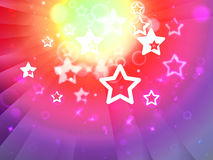 Stars Background Shows Shining Stars Or Glittery Design Royalty Free Stock Image