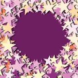 Stars background violet vector Stock Photo