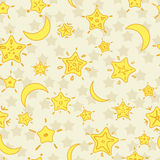 Stars background. Yellow. Stock Photography
