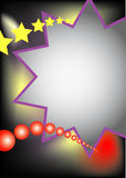 Stars and balls. A multi colored advertising frame with stars and balls. Also available as Illustrator-frame Stock Photo