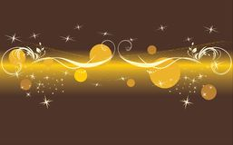 Stars and balls. Decorative background Royalty Free Stock Photo