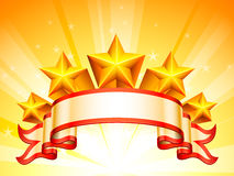 Stars banner. Royalty Free Stock Photography