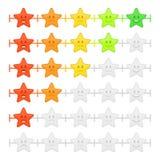 Stars a barra do emoticon do feedback ilustração stock