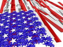 Stars and bars Royalty Free Stock Images