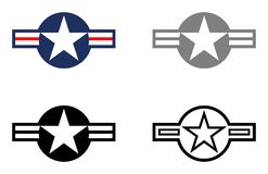 Military Stars and Bars - Show bird and Tactical Gray on White Background vector illustration