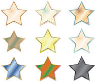 Stars. Beautiful group of multicolored stars Royalty Free Stock Photography