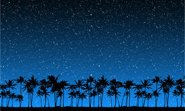 Stars Behind Palms Royalty Free Stock Photography