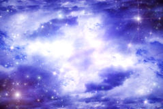 Stars below than clouds Royalty Free Stock Photo
