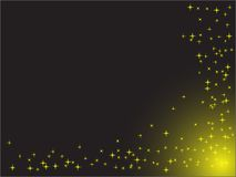 Stars on the black background Royalty Free Stock Photo