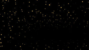 Stars on black night background Royalty Free Stock Photography