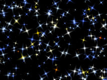 Stars on the black sky. Royalty Free Stock Photography