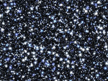 Stars on the black sky. Stock Images