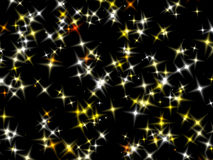 Stars on the black sky. Royalty Free Stock Photo