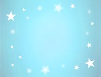 Stars on blue. Light blue background with some stars as border. There is a pink version too, in my portfolio Royalty Free Stock Image