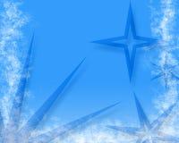 Stars on blue Royalty Free Stock Photos
