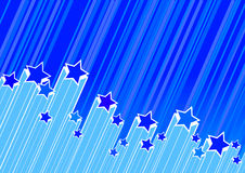 Stars on blue background. Royalty Free Stock Images
