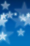 Stars blue background Royalty Free Stock Photography