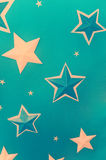 Stars in blue background Royalty Free Stock Photography
