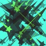 Stars on a blue background vector illustration Stock Photos