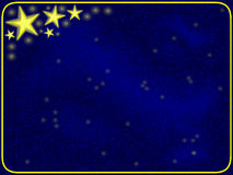 Stars and blue frame Stock Photo
