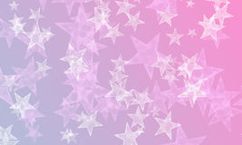 Stars on blue and pink Royalty Free Stock Photography