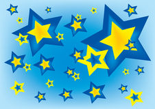 Stars in blue sky. Vector illustration of stars in blue sky background Royalty Free Stock Photos