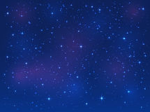 Stars on blue sky background. Shining stars on blue sky, space background, illustration Royalty Free Stock Photography