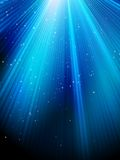 Stars on blue striped background. EPS 10 Stock Photography