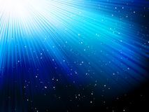 Stars on blue striped background. EPS 10 Stock Photo