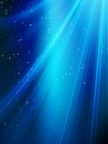 Stars on blue striped background Stock Image