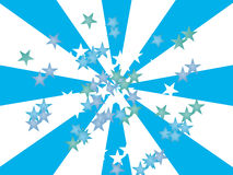 Stars on blue - white Royalty Free Stock Photos