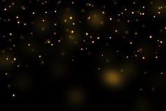 Stars bokeh overlay, abstract background, shiny gold stars bokeh. Gold stars bokeh overlay, stars photo overlay, abstract background, shiny gold and yellow stars royalty free illustration