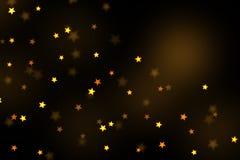Stars bokeh overlay, abstract background, shiny gold stars bokeh. Gold stars bokeh overlay, stars photo overlay, abstract background, shiny gold and yellow stars vector illustration