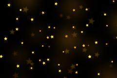 Stars bokeh overlay, abstract background, shiny gold stars bokeh. Gold stars bokeh overlay, stars photo overlay, abstract background, shiny gold and yellow stars stock illustration