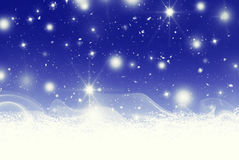 Stars bokeh and snow illustration Stock Photos