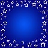 Stars border. On blue Royalty Free Stock Photo