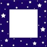 Stars border. White stars on dark blue border Royalty Free Stock Photo