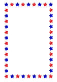 Stars border. Illustrated border with red and blue stars.eps file is available Royalty Free Stock Image