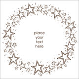 Stars border frame. Stock Photo