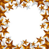 Stars border made in contemporary geometric style, vector backgr Stock Photos