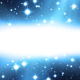 Stars with bright message area Stock Photography