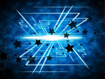 Stars Brightness Background Means Night Beams And Geometrical Li Royalty Free Stock Photography