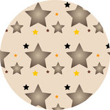 Stars. On a brown background stock illustration