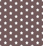 Stars on a brown background the color of milk chocolate retro seamless vector pattern. Texture wrapping paper. Paper for notes. Beautiful vector illustration Stock Images