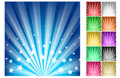 Stars burst vector illustration