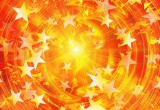 Bright explosion flash with stars. Stars burst with bright explosion flash Royalty Free Stock Photo