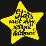 Stars can`t shine without darkness Royalty Free Stock Photo