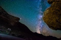 Stars in the canyon stock photography