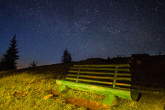 Stars in the Carpathian Mountains Royalty Free Stock Photo