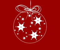 Stars in a christmas ball Stock Images